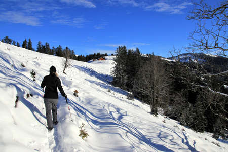 Beautiful winter landscape - Vorarlberg Austria