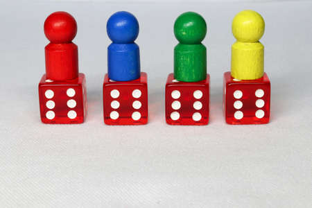 We are all winners - game piece with dice