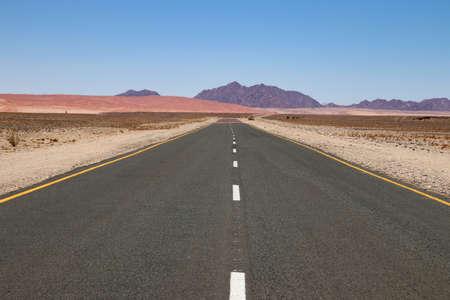long road - Namibia, Africa Stockfoto