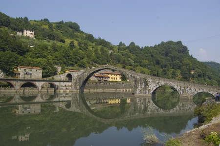 Ponte della Maddalena, Lucca, Tuscany, Italy