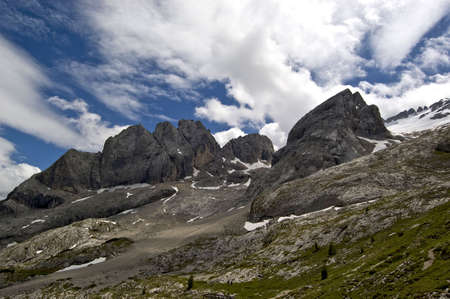 Marmolada mountain group Stock Photo