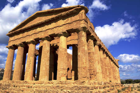 a greek temple in selinute, sicily, italy