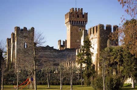 castle in Lazise on the Gardas lake, italy