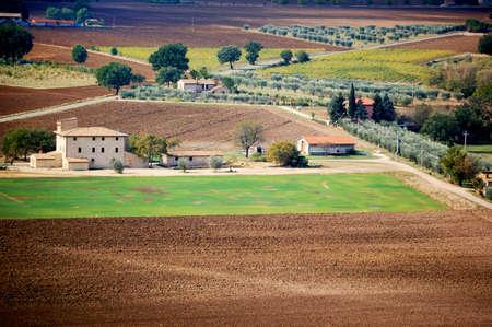 italian landscape in Umbria, italy