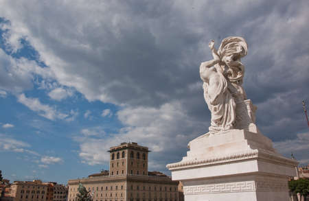 statue on the unknown soldier monument in rome