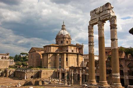 roman basilica and trajan forum in rome Stock Photo - 7877476