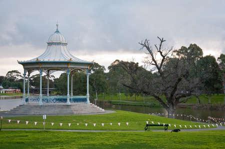 nice gazebo in the park in adelaide, south australia