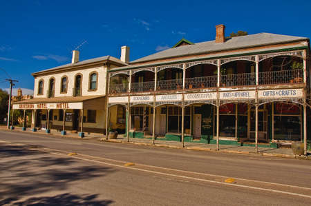 old hotel on the stewart highway, outback south australia