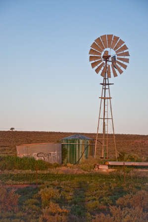 australian outback: farming windmill in the australian outback