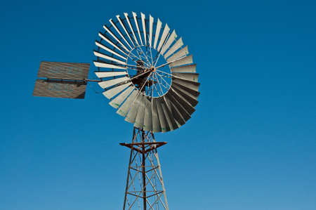 australia farm: windmill in the australian outback, northen australian Stock Photo