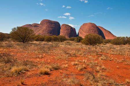 panoramic view of Kata Tjuta, australian red center photo