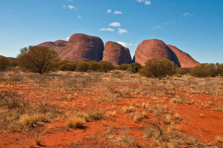 outback australia: panoramic view of Kata Tjuta, australian red center