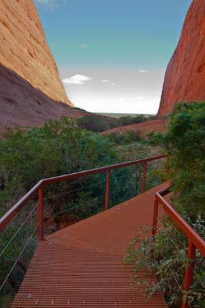 tjuta: view of Kata Tjuta, australian red center