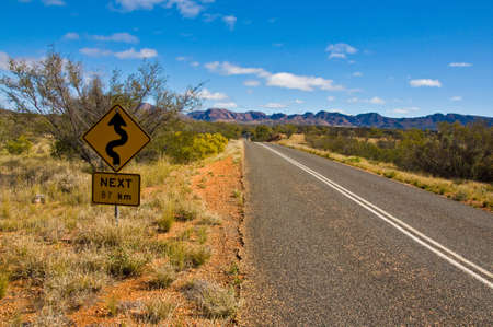 bush and road on the outback, northern territory australia