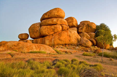 devils marbles, in the australian outback, northern territory photo