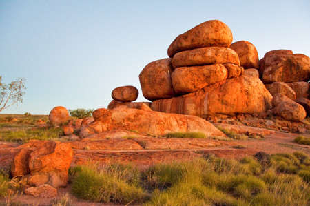 devil's marbles, in the australian outback, northern territory