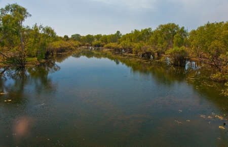 wide river in the australian outback, northern territory photo