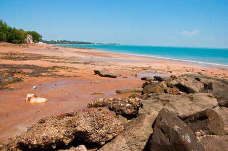the ocean coast in Darwin, Australia