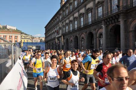 Runners at the half Marathon, Naples, Italy, April 18, 2011 Editorial