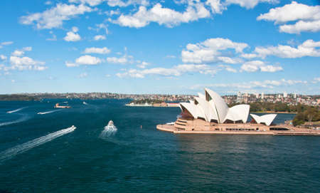 SYDNEY, AUSTRALIA ? AUGUST 17: View of the Opera House most famous theatre of the city, August 17, 2010 in Sydney Stock Photo - 9871477