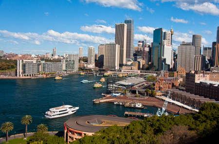the bay and the skyline of sydney, australia