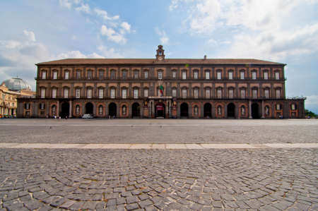 royals: famous royal palace in Naples, italy Editorial