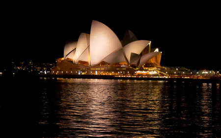 SYDNEY, AUSTRALIA ? AUGUST 18: view of the Opera House in Sydney bay on August 18, 2010 in Sydney, Australia. The Opera House Theatre is a famous landmark for Sydney and for whole australia Editoriali