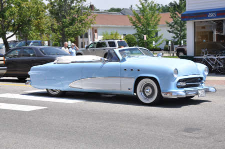 old american car in a special meeting in USA