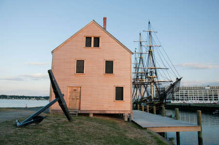 massachussets: old galleon and old harbor in Salem massachusets Usa