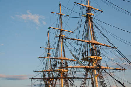 old galleon and old harbor in Salem massachusets Usa