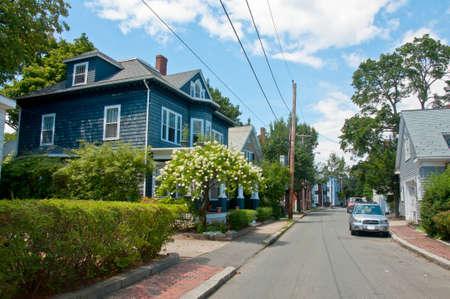 massachussets: downtown city of Salem, massachussets, america