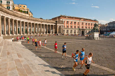 NAPLES, ITALY - APRIL 17: unidentified runners at the XIV Neapolis Half Marathon on April 17, 2011 in Naples