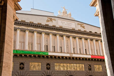 the Royal Theater San Carlo in Naples, Italy