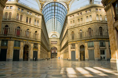 Umberto I gallery in the city of Naples, italy Stock Photo - 10900406