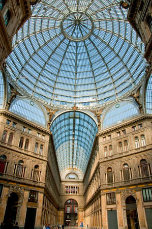 dome: Umberto I gallery in the city of Naples, italy Editorial