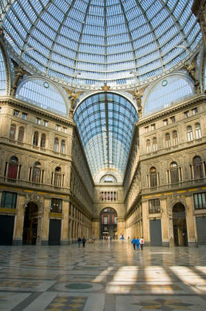 Umberto I gallery in the city of Naples, italy Editoriali