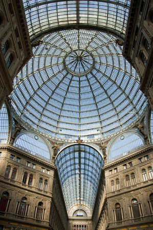 Umberto I gallery in the city of Naples, italy Editorial