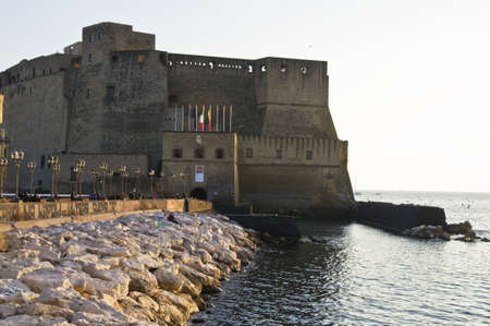 view of the fortress in Naples, Italy