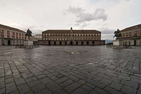 Royal Palace in Naples, Italy
