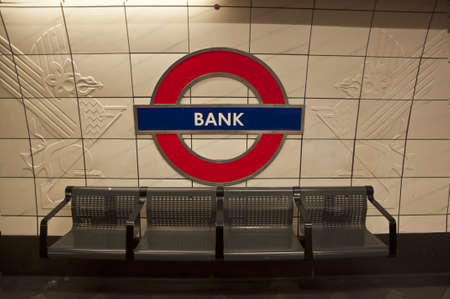 the tube station in london underground, UK photo