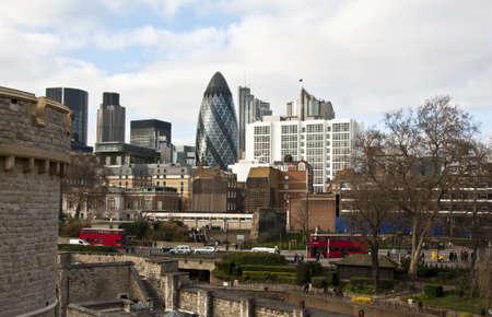 panorama of london skyline, UK photo