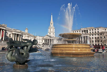 fountain at Trafalgar Square in London, UK Stock Photo - 12903842