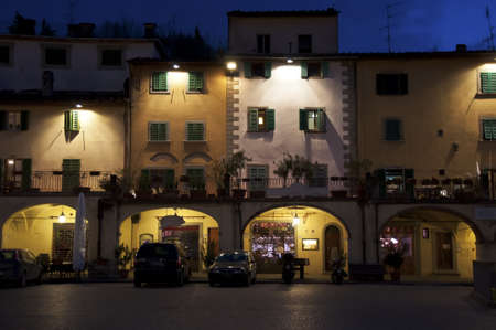 the maine square in Greve in Chianti, Tuscany, Italy Stock Photo