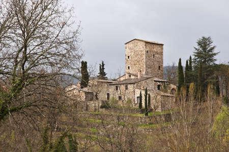 medieval castle in Chianti, tuscany, Italy Banco de Imagens - 13414201