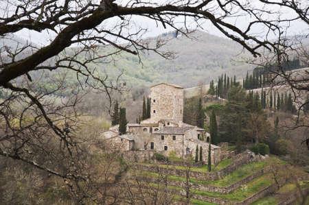 medieval castle in Chianti, tuscany, Italy Banco de Imagens - 13414197