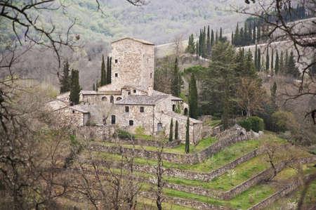 medieval castle in Chianti, tuscany, Italy Banco de Imagens - 13414196