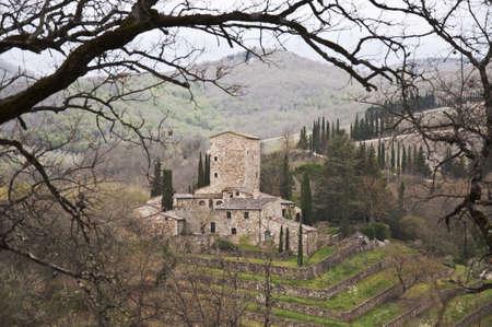 medieval castle in Chianti, tuscany, Italy Banco de Imagens - 13414190