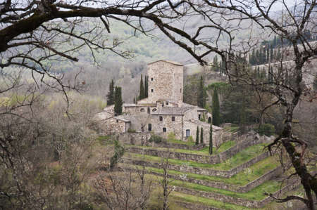 medieval castle in Chianti, tuscany, Italy Stock Photo - 13414200