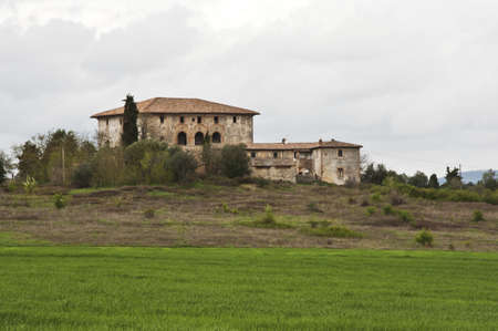 house and farm in tuscan countryside, Italy