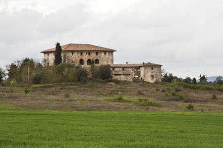 Huis en boerderij op het Toscaanse platteland, Italië Stockfoto - 13538125